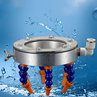 Engraving Machine 6 Nozzle Water Spray Ring Suitable for 80mm Spindle Universal Cooling CNC Lathe Milling Drill Engraving