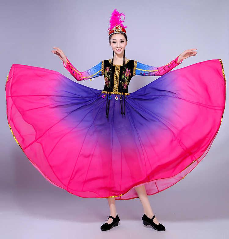 03346f364 ... New Xinjiang Uygur Dance Performance Costumes Female Ethnic Minority  Stage Performance As Adult Dress Folk Dance ...
