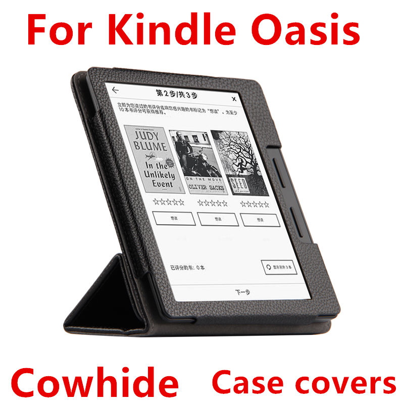 Case Cowhide For Kindle Oasis Smart Cover Protective New 2016 For Amazon eBook Reader Cases Protector Genuin leather Sleeve 6'' sleeve pouch case for amazon kindle paperwhite new kindle kindle voyage 6 inch easy carry e book e reader sleeve cover case bag