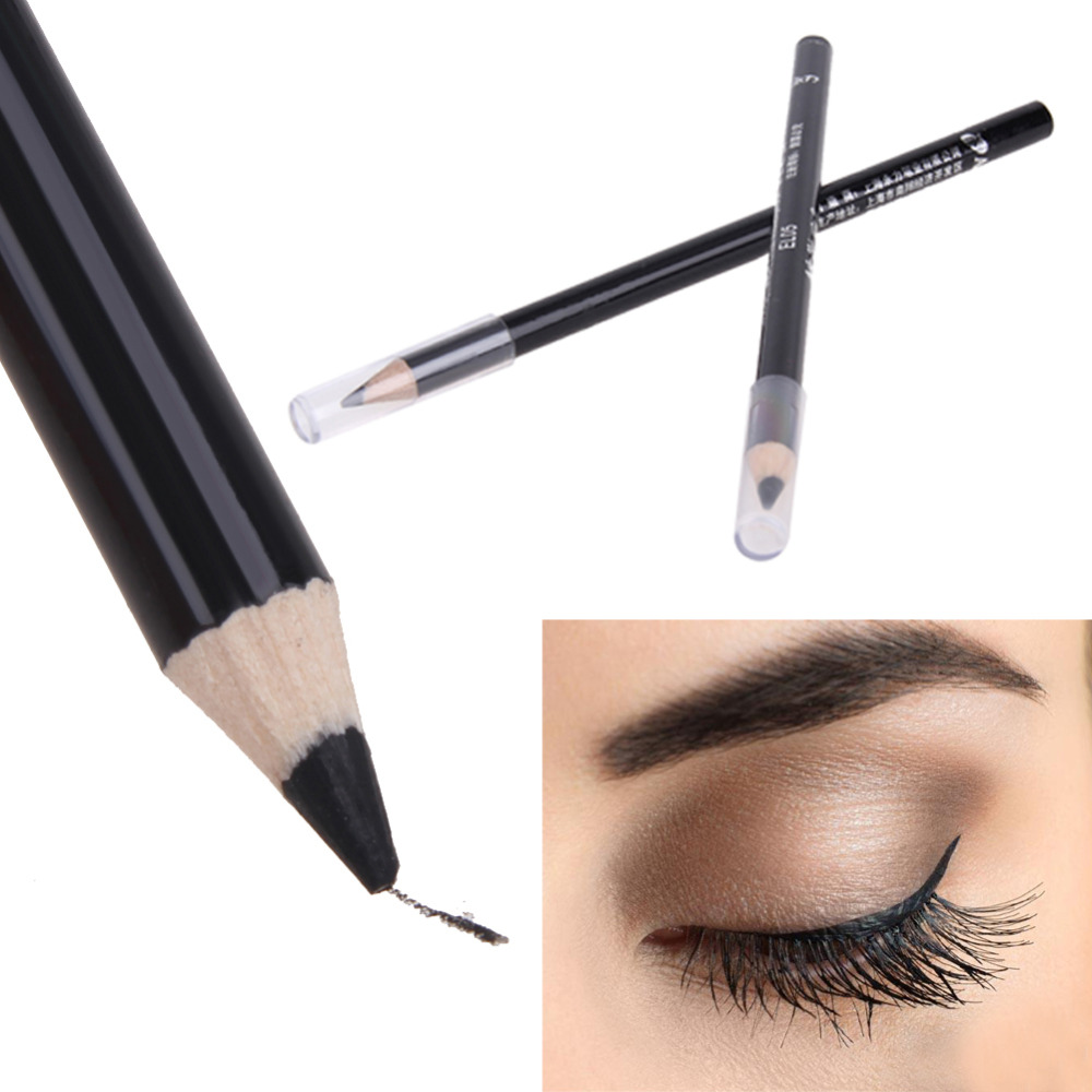 2 Pcs Waterproof Black Eye Liner Pencil Cosmetic Soft Eyeliner Pen Women Beauty Makeup Smooth Long-lasting