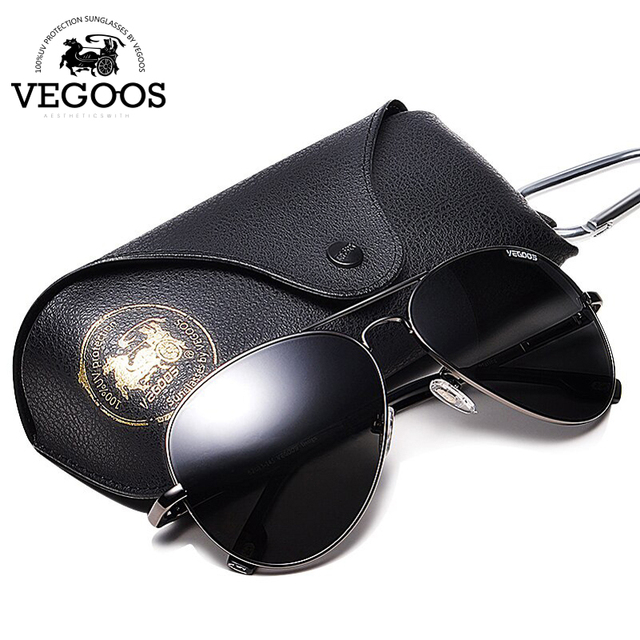 VEGOOS Men Polarized Sunglasses  Driving Sunglasses Stainless Steel Frame Aviation Oculos De Sol Masculino Sun Glasses #3025M