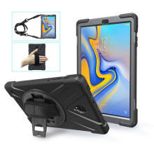 Silicon Shockproof Armor case for Samsung Tab A 10.5 T590 T595 Heavy Duty Silicone Stand Cover Handheld Shoulder Strap Kid Safe