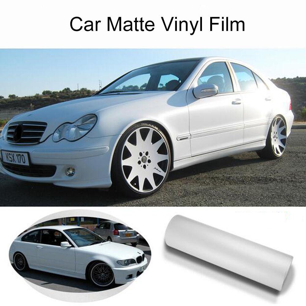 152 см x 1800 см белая матовая виниловая Обёрточная бумага Атлас матовая пленка для оклейки машины фильм украшение для автомобиля винил Стикеры