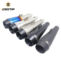 ZSDTRP 51MM Motorcycle Scooter Exhaust Pipe Moto Escape GP Pot Silencer For M4 For Most Motocross Dirt Bike Cross ATV