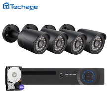 Techage 8-канальный 4-канальный 1080 P hdmi выход dvr ahd видеонаблюдения система 4 шт. 1200TVL 720 P Камеры Открытый ИК Ночного Видения AHD-М Комплект Видеонаблюдения
