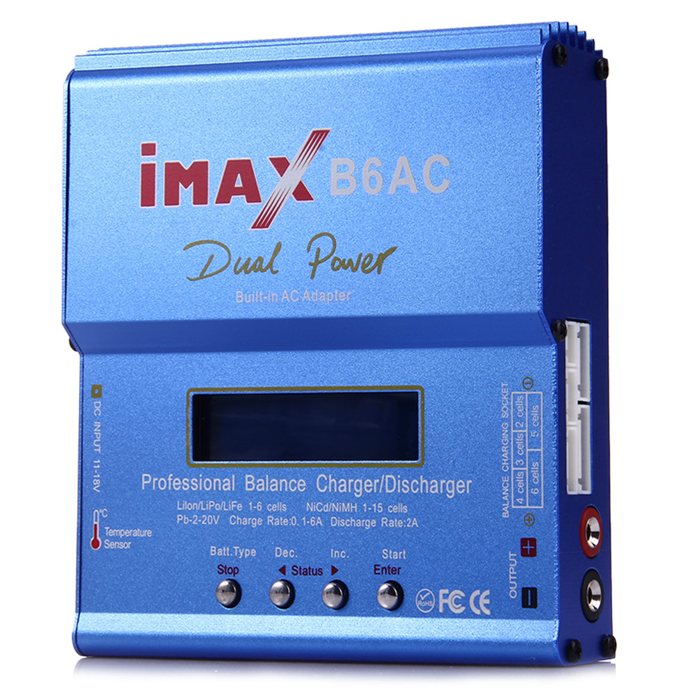 IMAX B6AC RC B6 AC 80W Nimh Nicd Lithium Battery Charger Discharger With Digital LCD Screen