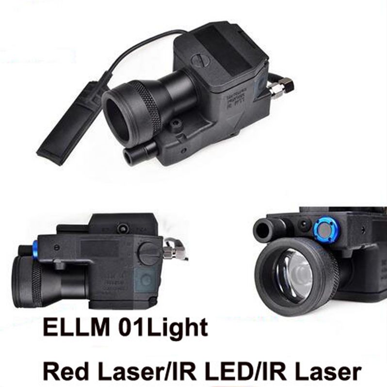 Airsoft eLLM01 Softair Tactical Flashlight NEW VERSION Led Laser IR Infrared Military Led Light Rifle EX214