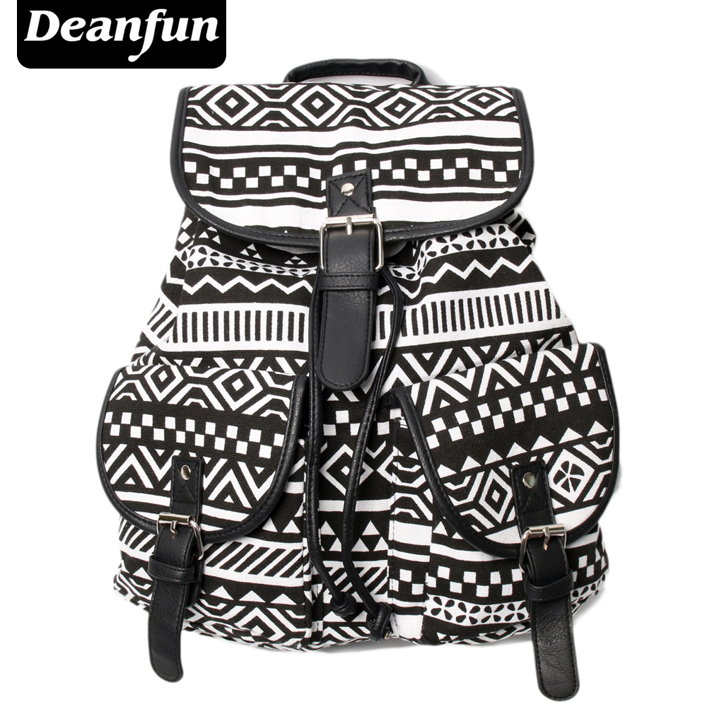 Deanfun Exclusive Handmade Vintage Rucksack Printing Canvas Women Backpack Mujer Mochila Escolar Feminina School Bag Sac a Dos