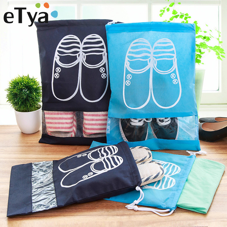 ETya 2 Sizes Drawstring Bag Women Travel Home Storage Shoe Bag Portable Package Practical Organizer Cover Wholesale Dropshipping