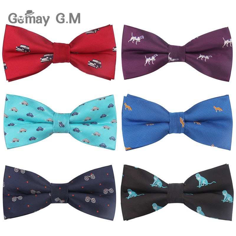 Lovely Cartoon Bowtie For Men Polyester Jacquard Animal Bow Tie For Wedding Business Suits Men Bowties Gravatas