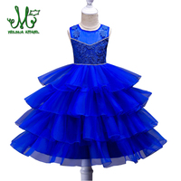 2018 Christmas Kids Formal Dress For Girls Clothes Flower Pageant Birthday Party Princess Dress Girl Clothes