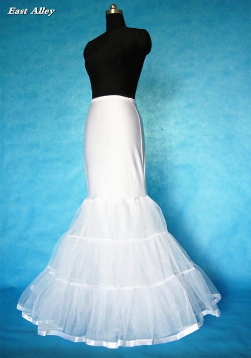 Hoopless Mermaid Trumpet Wedding Dress Petticoat Crinoline Underskirt Full  Slip in Ivory   White no Ring-in Petticoats from Weddings   Events on ... e5dee7268a8c