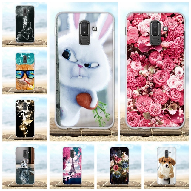 more photos 968ad 2c1e3 US $0.64 42% OFF|For Samsung Galaxy J8 2018 Case Painted Protective  Silicone Cover 3D Cute Animal Coque For Samsung J8 2018 SM J810F Phone  Cases-in ...