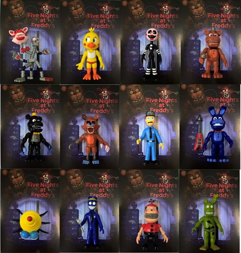 Five Nights At Freddy S 12pcs Set Fnaf Bonnie Foxy Freddy Fazbear Bear Night At Freddy Toys Action Figure Action Toy Figures Aliexpress