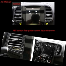 car-styling ABS carbon fiber Console Air Conditioning Outlet Vent Moulding trim Interior cover For Renault Koleos 2 2016 2017