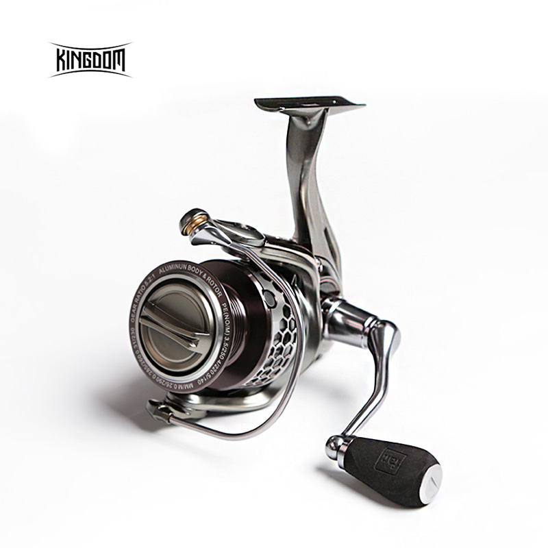 цена на Kingdom Fishing Reel Spinning Saltwater 11+1 BB 5.2:1 FL1500 FL2000 FL3000 Fishing Reels Carp All-metal lure spinning reel FIR