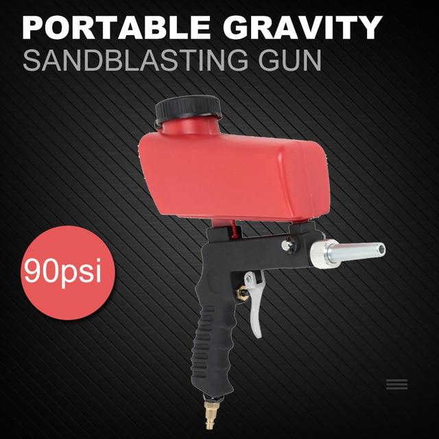Portable Gravity Sandblasting Gun Miniature Pneumatic Sandblasting Set Rust Blasting Device Small Sand Blasting Machine