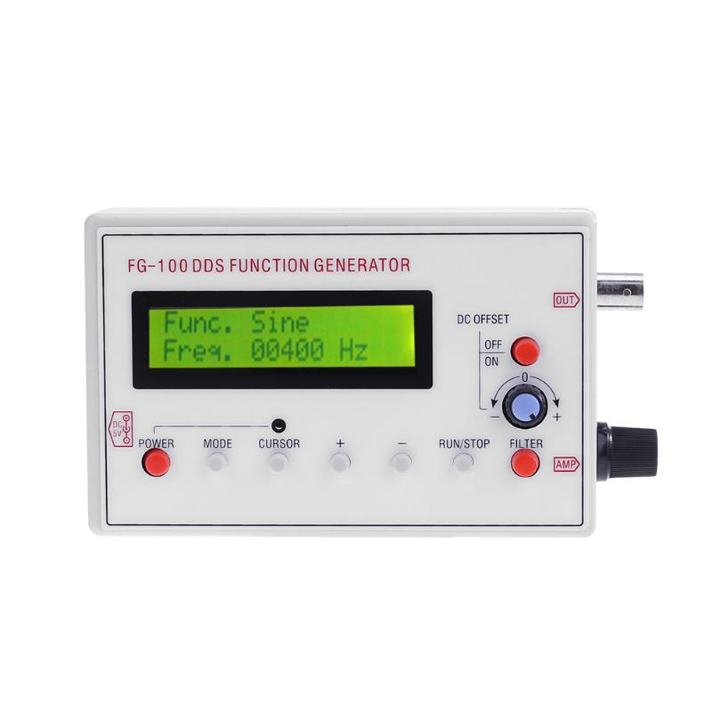 Portable 1Hz-500KHz Signal Generator Sine Wave Frequency DDS Functional Signal Generator for Circuit Testing Measurement kwx03 square wave signal source frequency dutycycle adjustable 0 1hz 34khz digital display