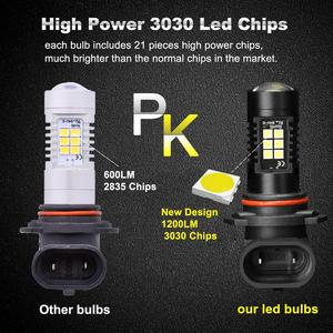 Image 4 - 2pcs 1200Lm H11 H8 ไฟ LED หลอดไฟ LED 9005 HB3 9006 HB4 ไฟวิ่งกลางวัน DRL FOG 6000K 12V ขับรถ