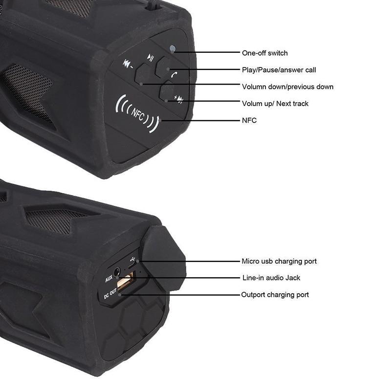 FUU Yeni Dikdörtgen Açık Su Geçirmez Bluetooth Hoparlör Mobil - Taşınabilir Ses ve Görüntü - Fotoğraf 6