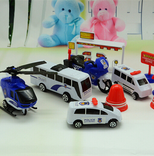 City Police Car Toys For Baby Boy Car Model Diecast Set Construction