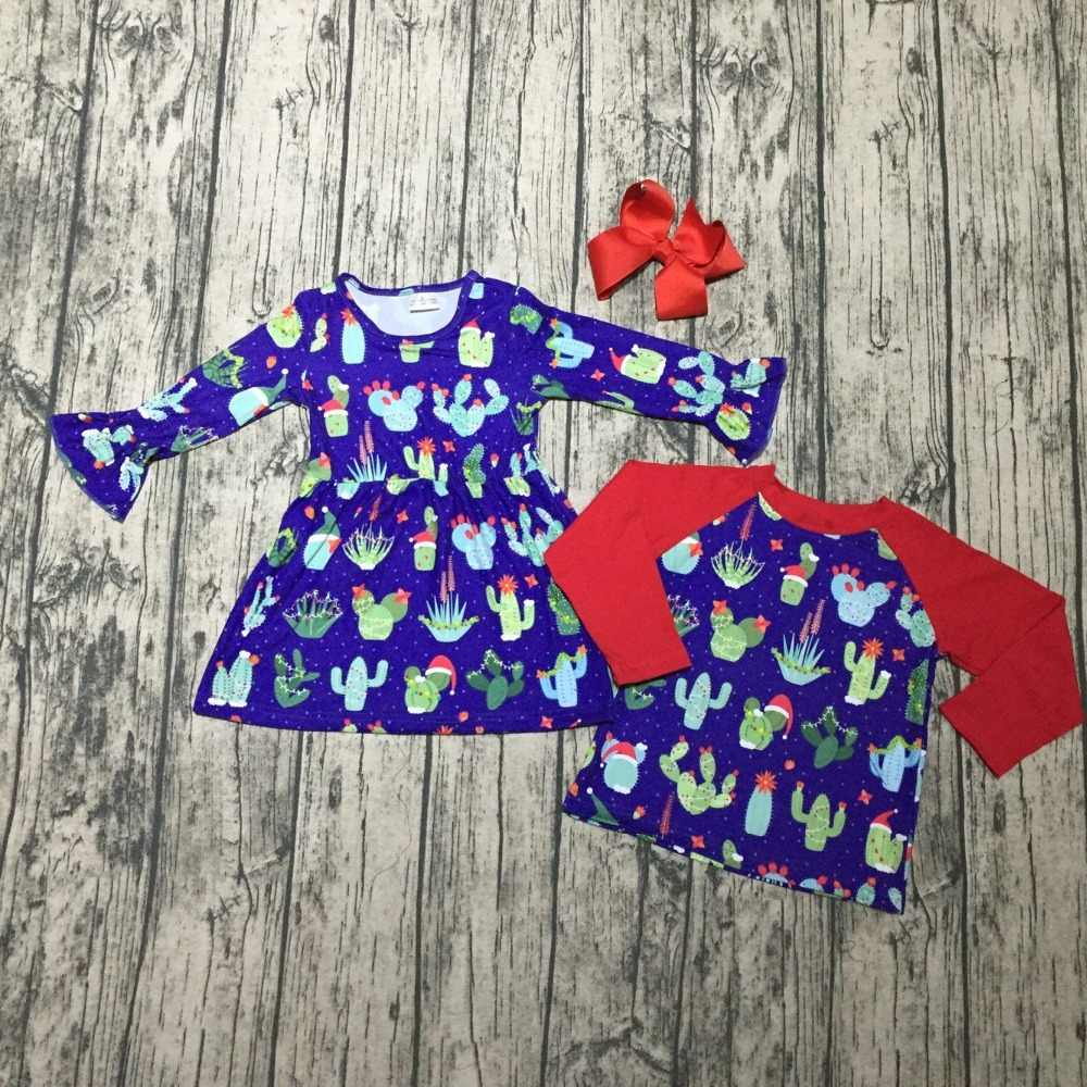 a4f04ff555db Christmas Fall winter baby grils boys Cactus hat children clothes boutique  cotton top t-