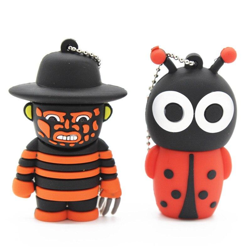 BiNFUL Cool Cartoon Usb2.0 Freddy Vs. Jason And Bee Pendrive Model  8GB 16GB 32GB Usb Flash Drive Pen Drive Cute U Disk