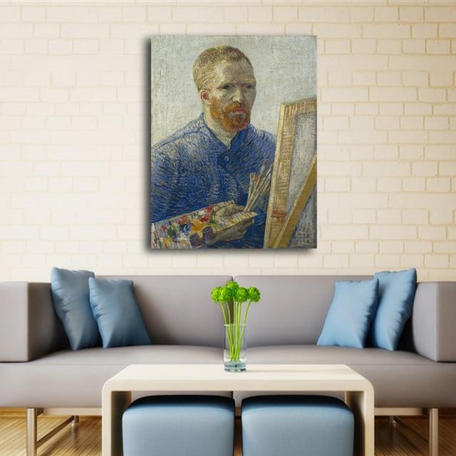 Стены искусства quadros картины для гостиной Home decor Ван гог Портрет Картины Маслом Напечатаны На Холсте Wall Art Prints без рамы