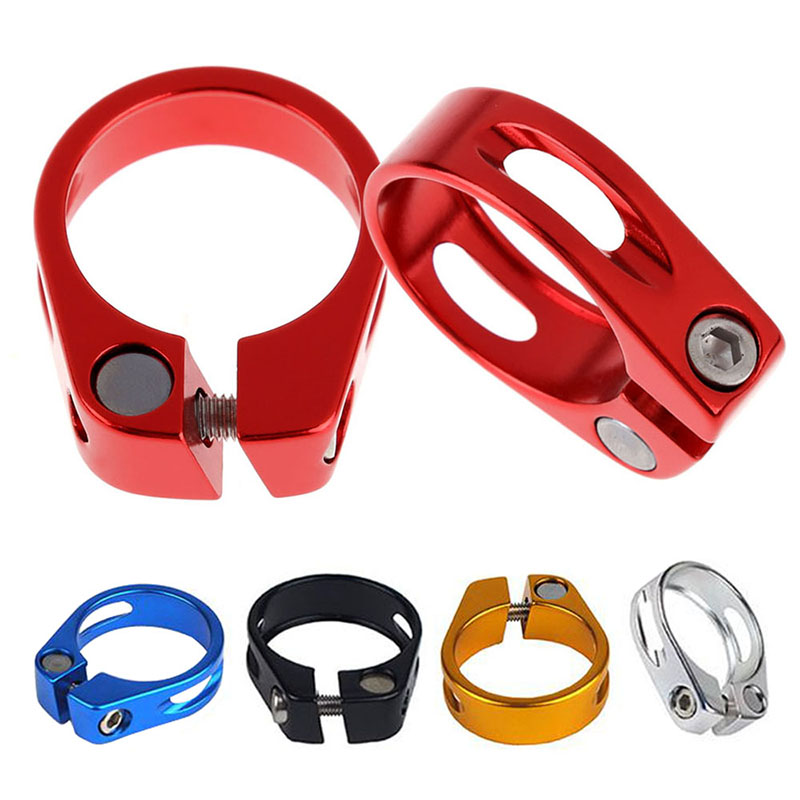 31.8mm Aluminum Tube MTB Bike Bicycle Saddle Seat Clamp Fit For 27.2mm Seatpost Cycling Parts Abrazadera Pecas De Bicicleta