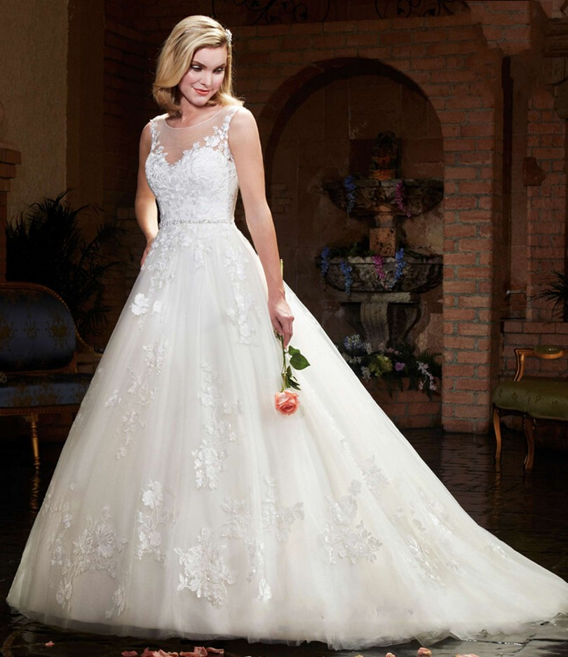 Wedding Ball Gowns With Straps: 2016 New Design Ball Gown Tulle Lace Wedding Dresses Sheer