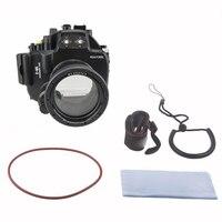 Meikon 40M 130ft Waterproof Underwater Camera Housing Case Bag para Olympus E-M5 12-50mm lente