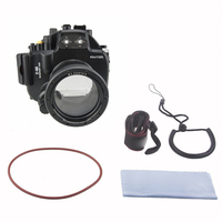 Meikon 40M 130ft Waterproof Underwater Camera Housing Case Bag for Olympus E M5 12 50mm lens