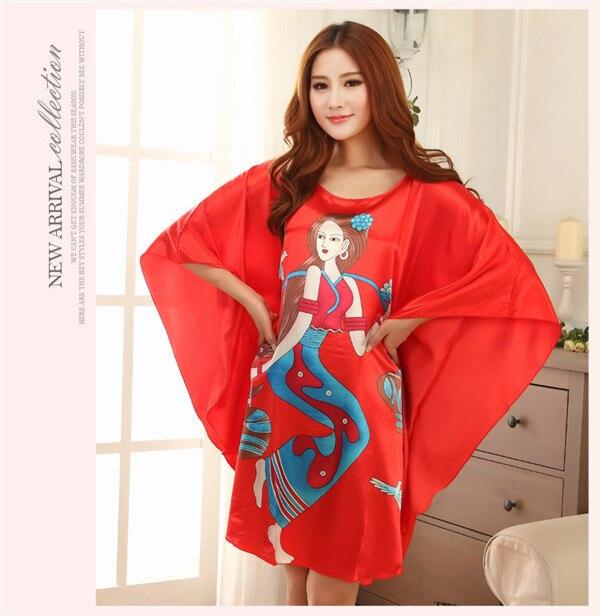 9dd62f7134 Nuevos pijamas batas de raso para mujeres vestido largo vendaje vestido de  ropa para el hogar