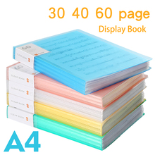 купить File folder Information book multilayer transparent a4 small fresh folder music score board folder Display Book дешево