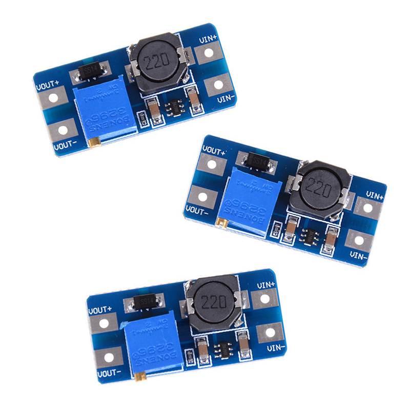 3Pcs Input 2V 24V Dc Dc 5V 9V 12V 28V Boost Converter Adjustable Step Up Power Supply Pcc Board Moudle in AC DC Adapters from Home Improvement