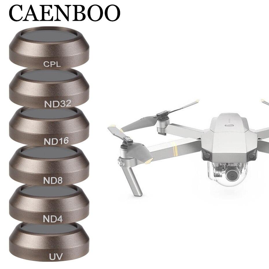 CAENBOO Drone filtros para DJI Mavic Pro Platinum UV CPL ND8 16 32 Polar Filtro de Mavic Pro cámara profesional Accesorios