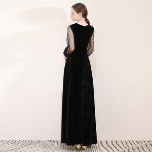 Image 2 - FADISTEE Mới đến buổi tối thanh lịch prom dresses Vestido de Festa Áo Choàng Áo Choàng De Dạ Hội velour ren phun đầy tay áo váy