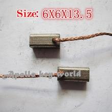 Угольная щетка для автомобильного обогревателя, воздуходувка вентилятора(6*6*13,5 мм