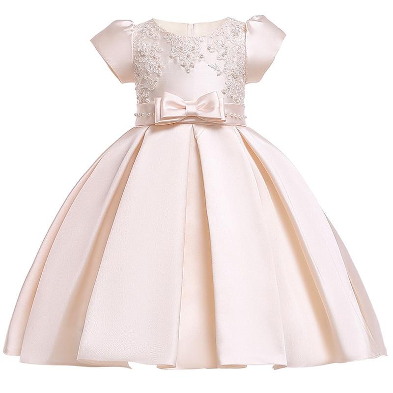 c3ef35590 جديد الفتيات اللباس طفلة الأميرة حزب لفصل الصيف الفتيات ملابس القطن بطانة الأطفال  ملابس كبير Bowknot الطباعة فساتين