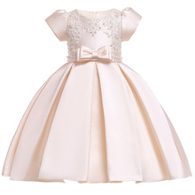 New Girls dress baby girl princess party For Summer girls clothing Cotton lining children Clothes Big Bowknot Printing dresses