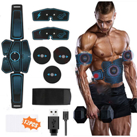 Abdominal Muscle Stimulator Slimming Fat Burning Exerciser Toner Rechargeable Smart Abs Fitness Gear Exercise Home Gym Equipment