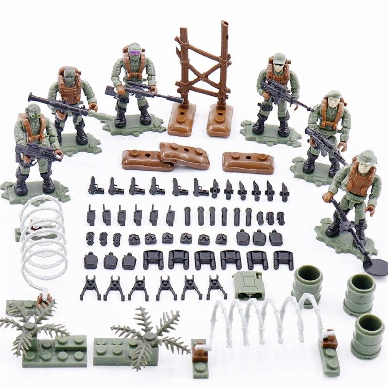 8 Pcs Weltkrieg 2 Duitse Aanval Speciale Kracht Soldaten Wapens Figuur Bouwstenen Speelgoed Voor Kinderen Legoinglys Militaire Speelgoed