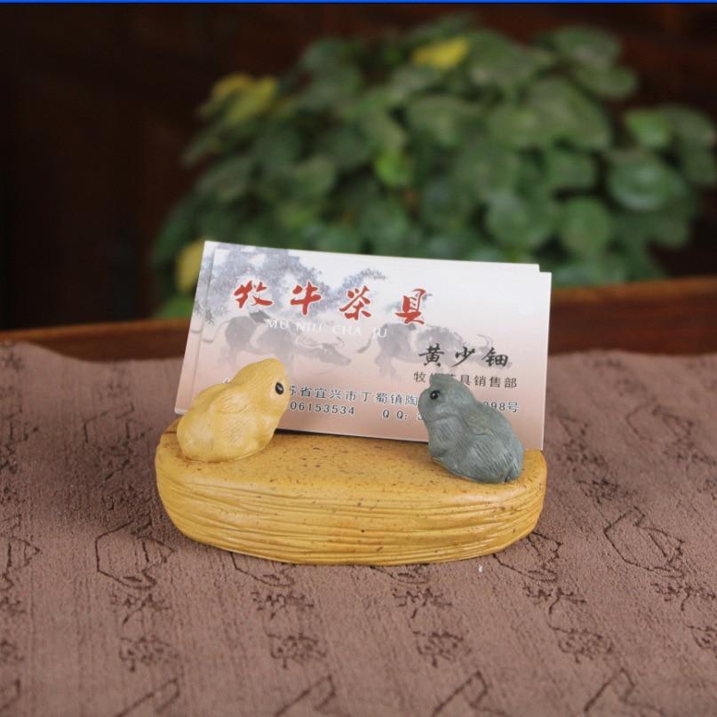 A pet name card tea factory direct Yixing tea tea taste put pet name card clip