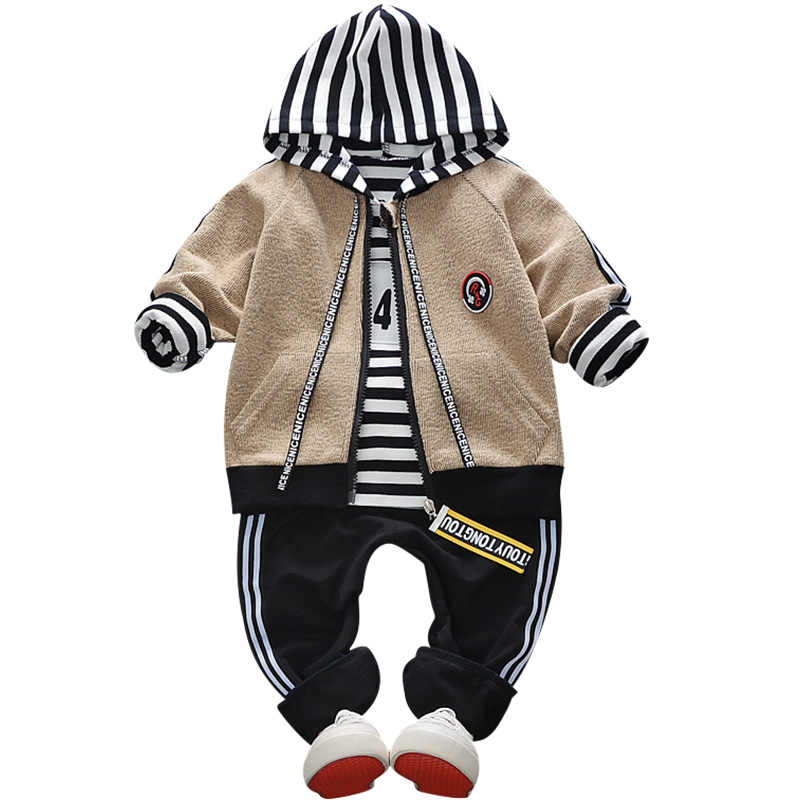 Hot new boys and girls baby children's clothing 2018 spring children 0-4 years old 3 piece set autumn letter sports suit