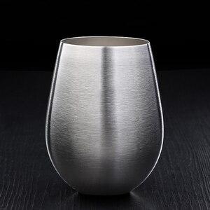 Image 3 - 500 Ml Rvs Bier Beker Wijn Tumbler Grote Bier Mok Cocktail Wijn Glazen Ei Vormige Big Cool Metalen Cup outdoor Drinkware