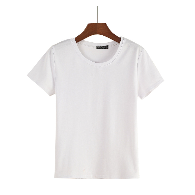 High Quality 20 Color M 3XL Plain T Shirt Women Cotton Elastic Basic T shirts Female Casual Tops Short Sleeve T shirt Women 2019 in T Shirts from Women 39 s Clothing