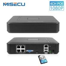 MISECU 4CH 48 V 1080 P POE Мини Сетевой видеорегистратор c выходом HDMI полный сетевой HD видео Регистраторы CCTV Системы для POE Камера Главная Безопасность ONVIF P2P