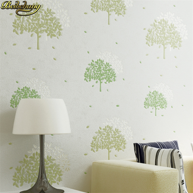 beibehang papel de parede 3D Fresh leaves Wallpaper For Walls Decor 3D Wall paper Rolls Bedroom Living room Sofa TV Background beibehang papel de parede 3d wallpaper vertical stripes modern minimalist bedroom living room sofa tv background 3d wall paper