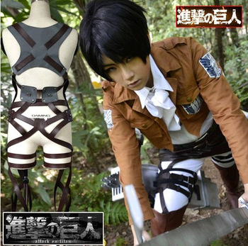 Attack on Titan Shingeki no Kyojin Levi/Eren Cosplay Costume Outfits Halloween Costumes for Women/Men Carnaval Disfraces 1