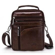 New High Quality Men Business Handbag Genuine Leather Cowhide Retro Crossbody Single Shoulder Bag Casual Briefcase Handbags